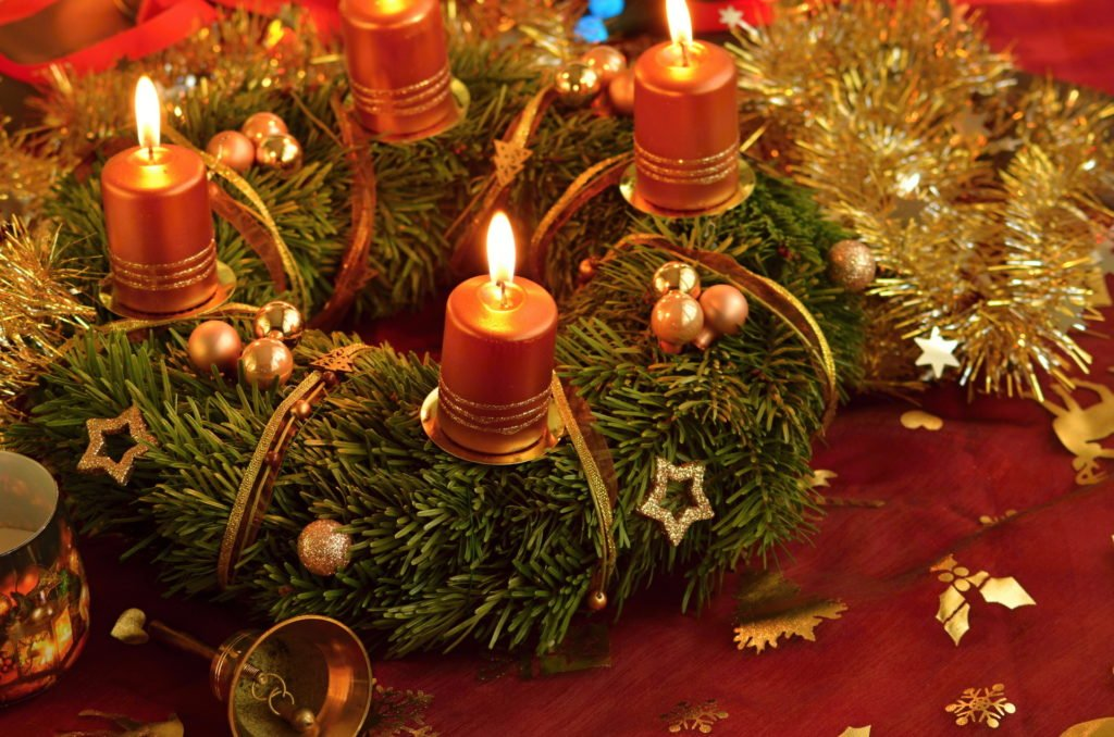 Vánoční obrázky Adventní věnec