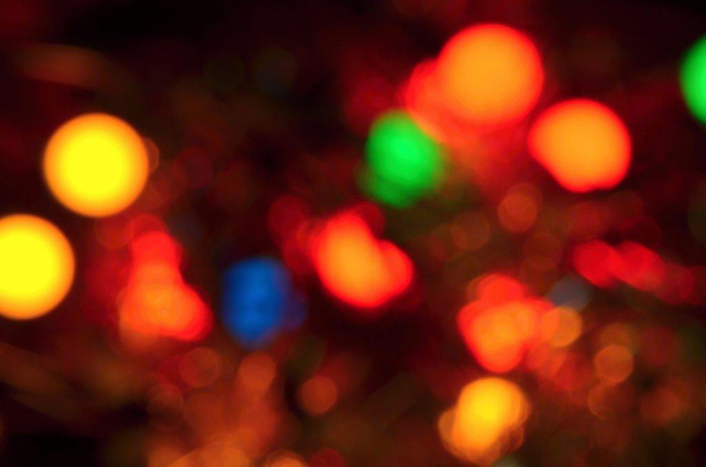 Vánoční světla abstrakce