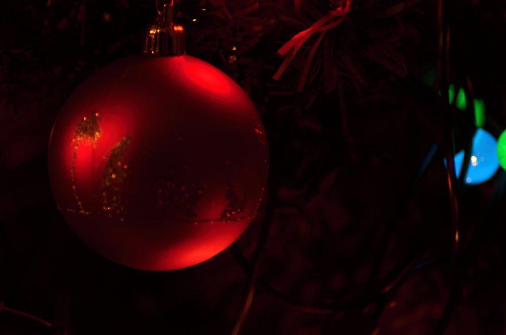 Vánoční obrázky koule na stromku