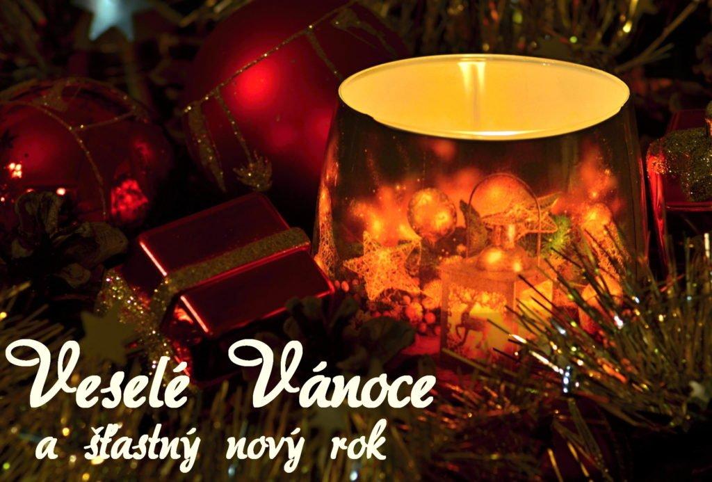 Dekorační svícen - vánoční přání