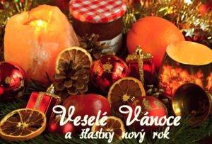 Vánoční přání s motivy vánoční dekorace
