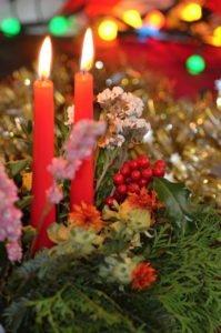 Svíčky na stromku