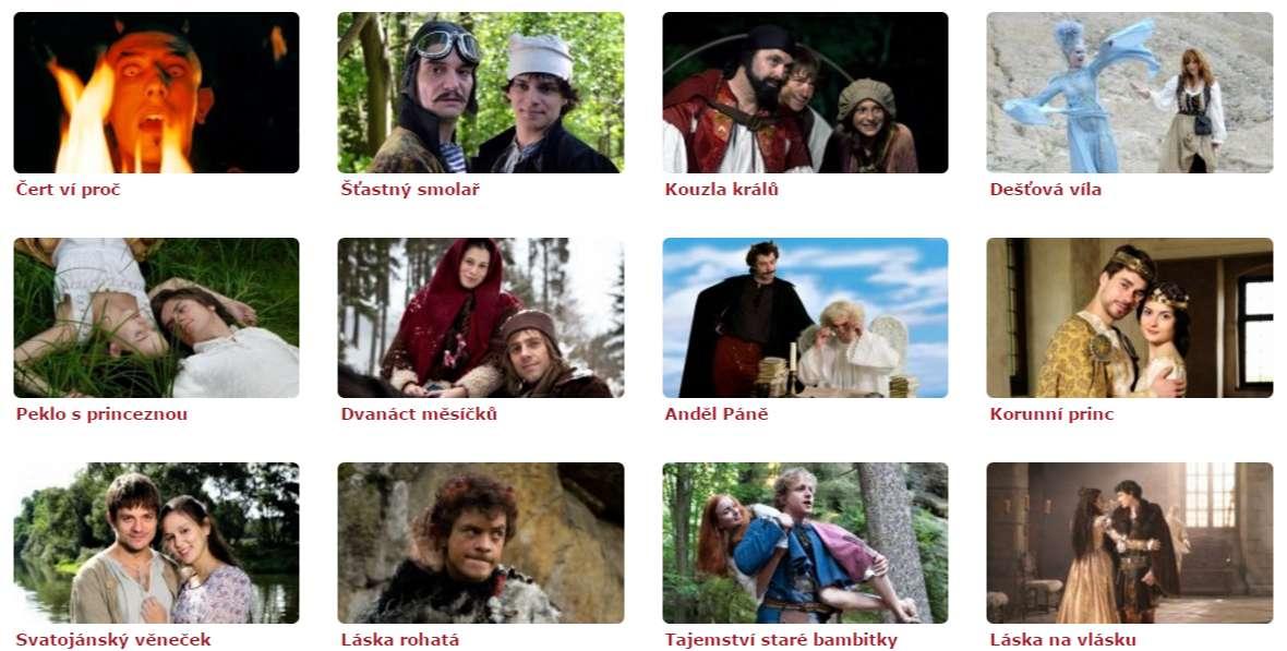Klasické pohádky pro děti na Vánoce 2016 v České televizi