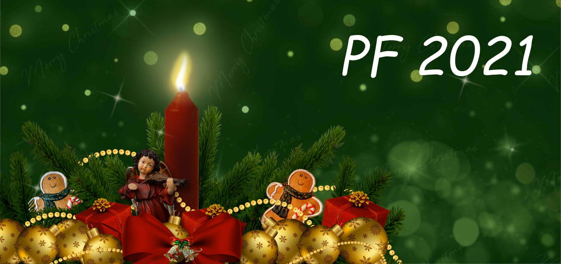 Novoroční přání ke stažení PF 2021 vánoční motiv