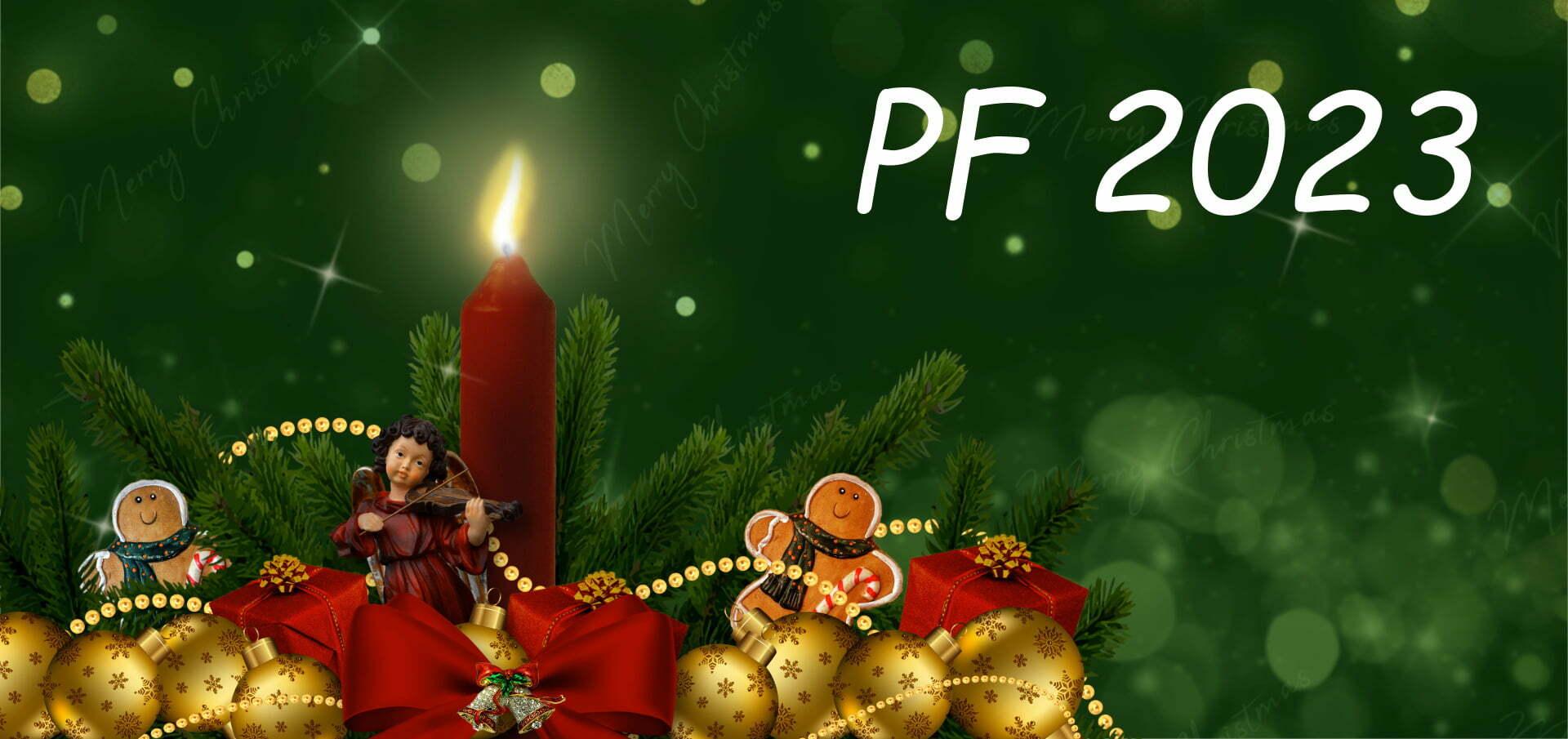 Novoroční přání ke stažení PF 2022 vánoční motiv